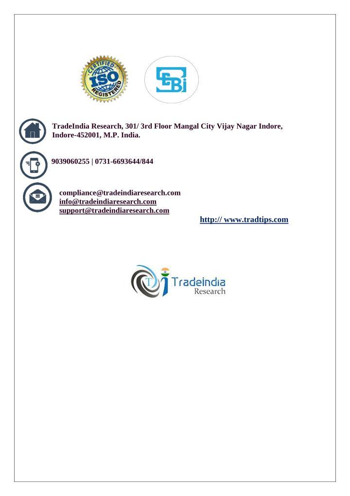 TradeIndia Research, 301/ 3rd Floor Mangal City Vijay Nagar Indore,