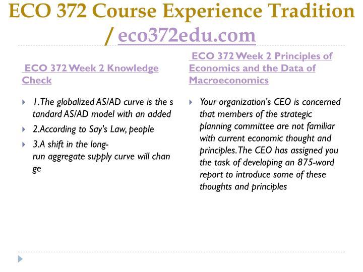 ECO 372 Course