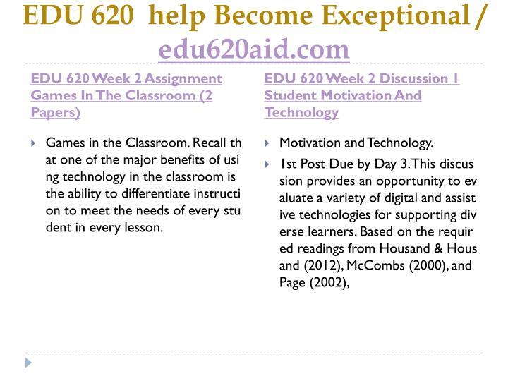 Edu 620 help become exceptional edu620aid com2