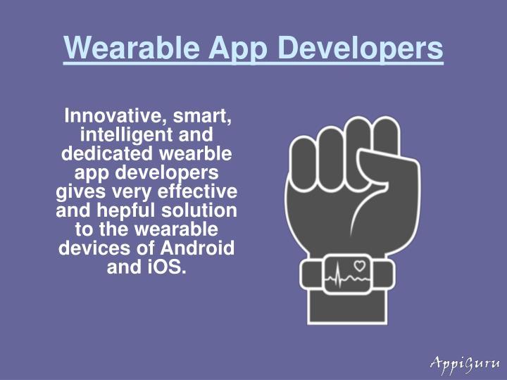 Wearable App Developers