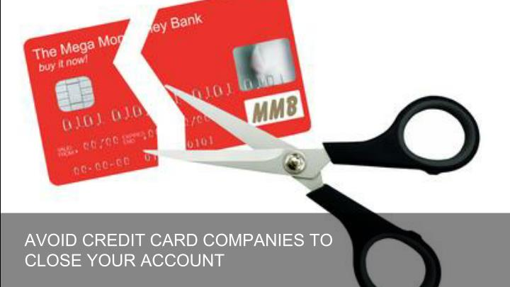 AVOID CREDIT CARD COMPANIES TO