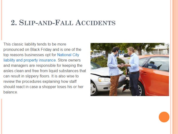 2. Slip-and-Fall Accidents