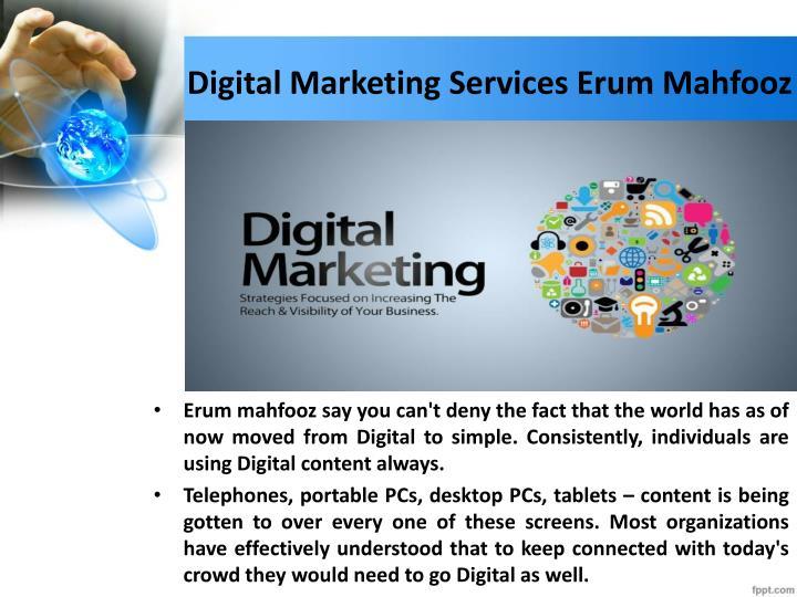 Digital marketing services erum mahfooz