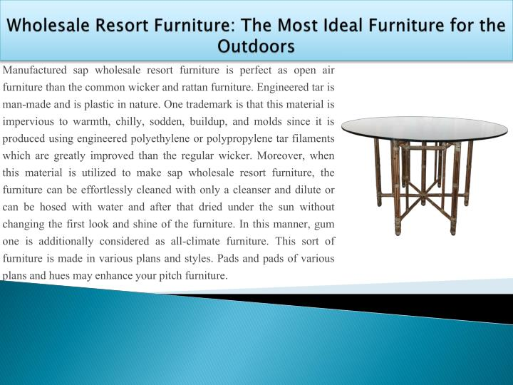 Wholesale resort furniture the most ideal furniture for the outdoors1