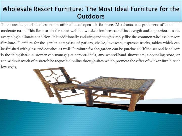 Wholesale resort furniture the most ideal furniture for the outdoors2