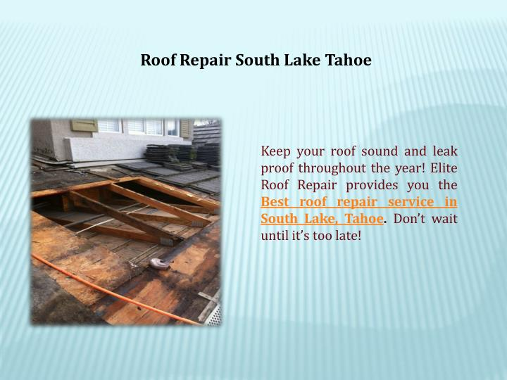 Roof Repair South Lake Tahoe