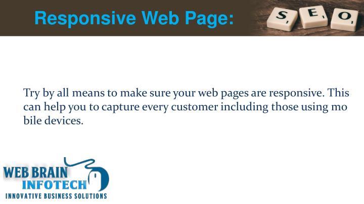 Responsive Web Page:
