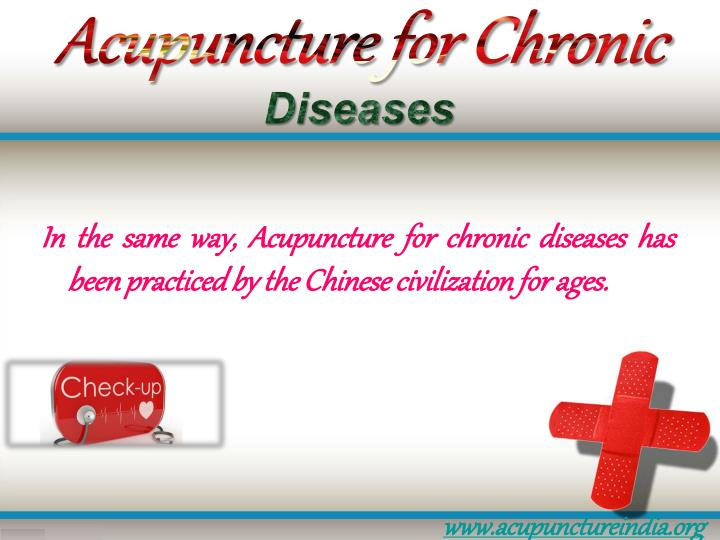 Acupuncture for chronic diseases