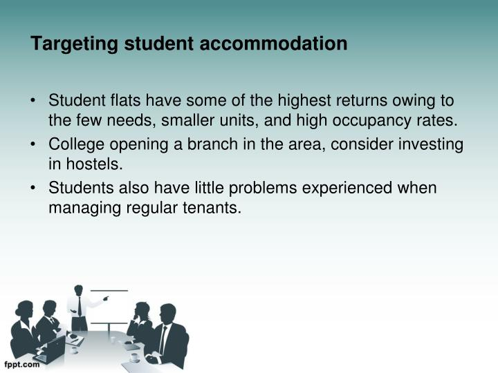Targeting student accommodation