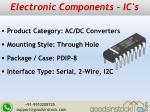 electronic components ic s