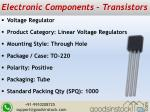 electronic components transistors