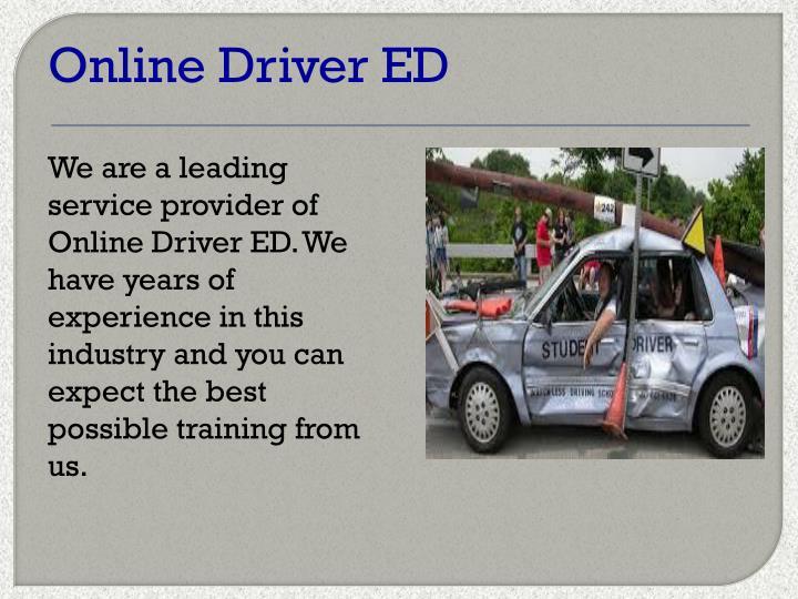 Online Driver ED