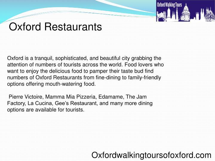 Oxford Restaurants