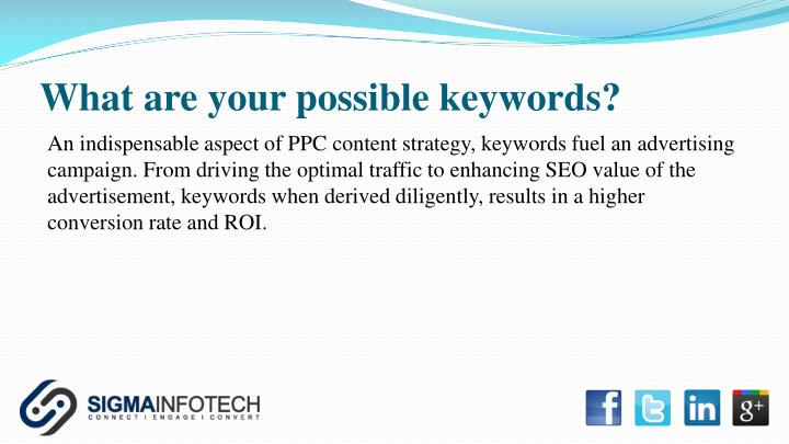What are your possible keywords?