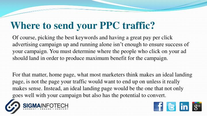 Where to send your PPC traffic?