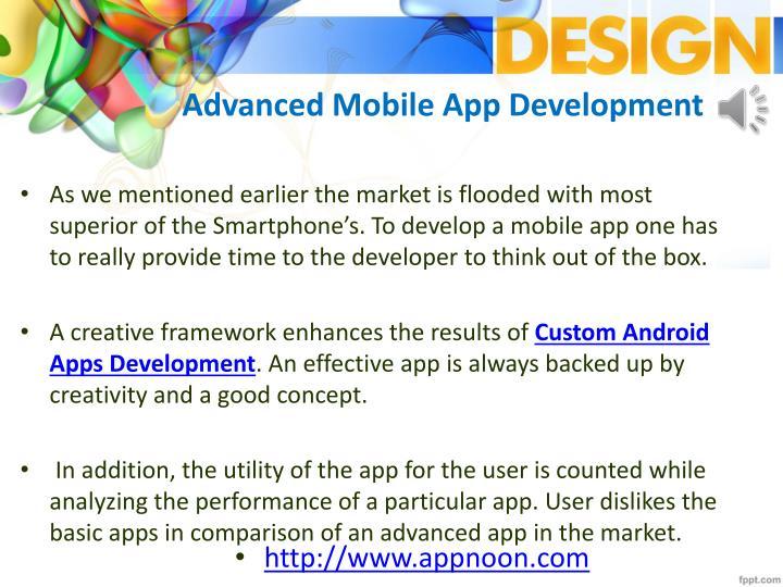 Advanced Mobile App Development