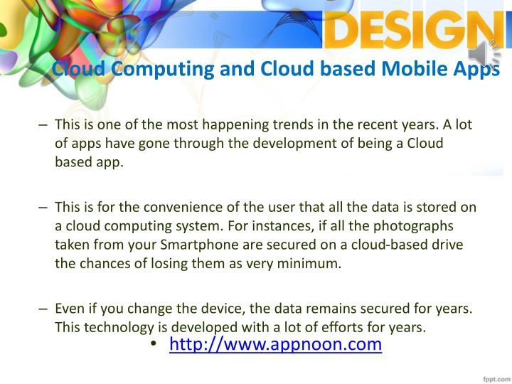 Cloud Computing and Cloud based Mobile Apps