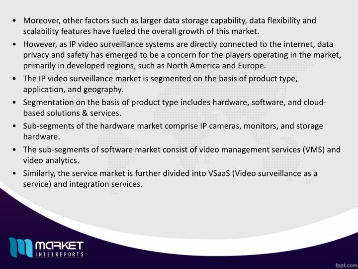 Moreover, other factors such as larger data storage capability, data flexibility and scalability fea...