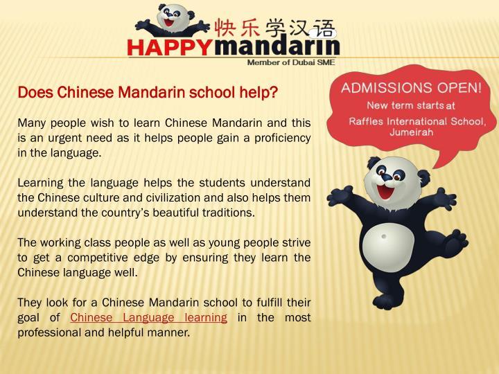 Does Chinese Mandarin school help?