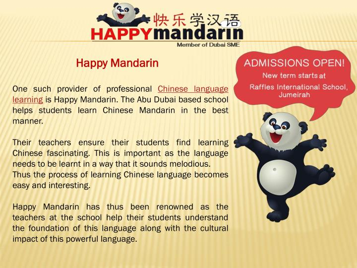 Happy Mandarin