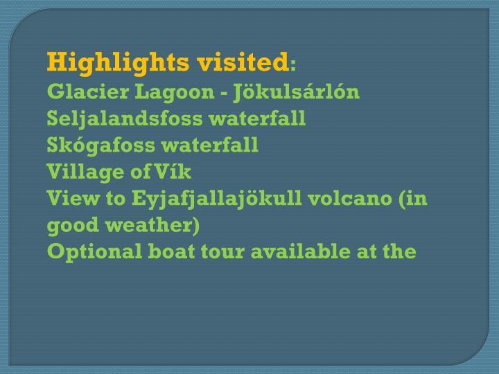 Highlights visited