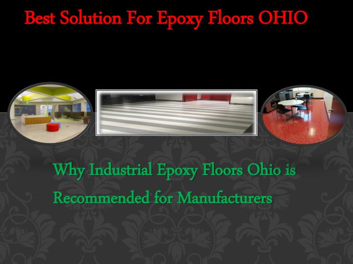 Best solution for epoxy floors ohio