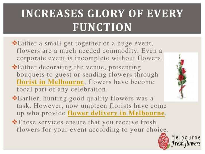 Increases glory of every function
