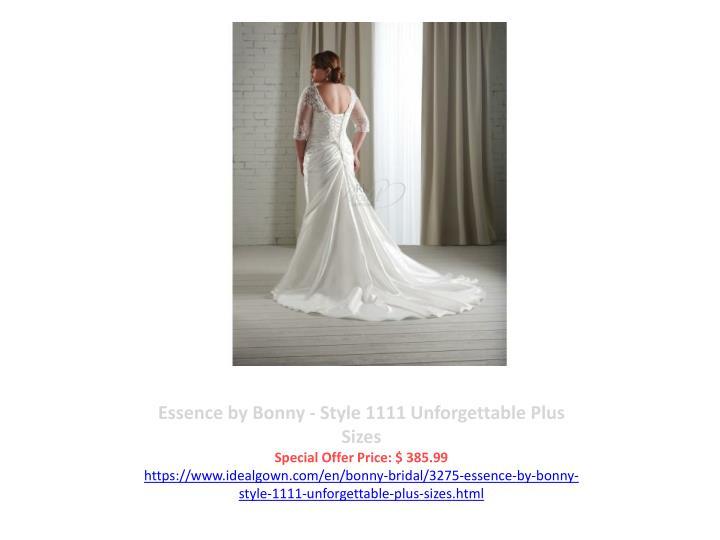 Essence by Bonny - Style 1111 Unforgettable Plus Sizes