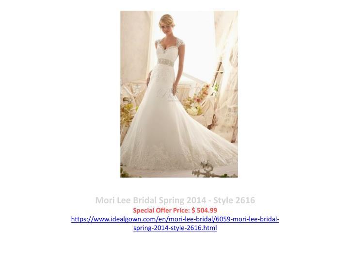 Mori Lee Bridal Spring 2014 - Style 2616