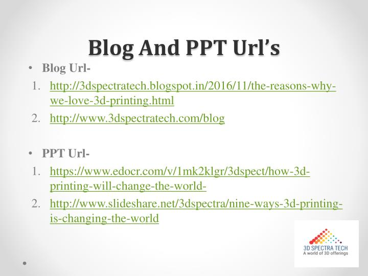 Blog And PPT