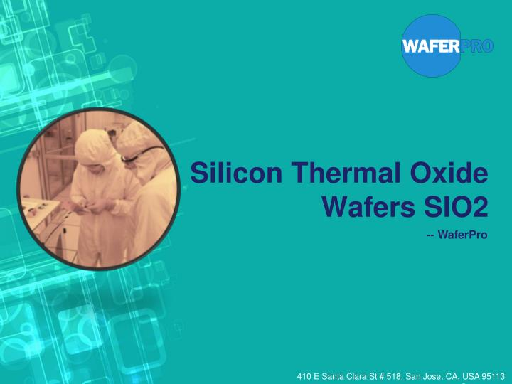 silicon thermal oxide wafers sio2