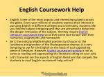 english coursework help