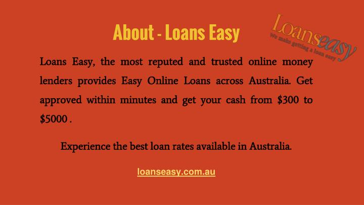 About loans easy