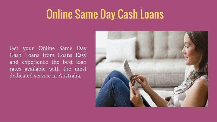 Online same day cash loans