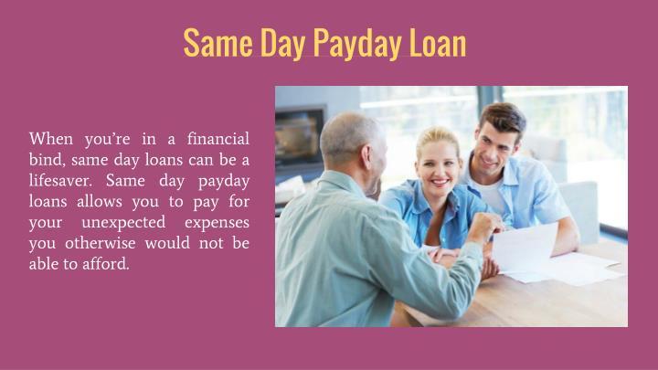 Same Day Payday Loan
