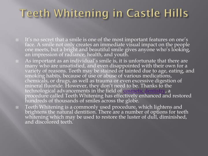 Teeth Whitening inCastle Hills