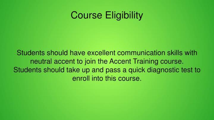 Course Eligibility