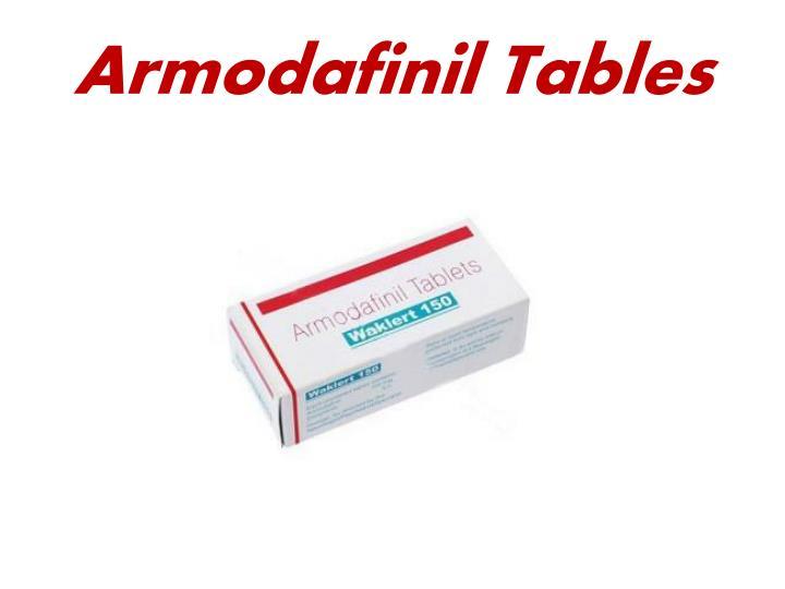 Armodafinil tables