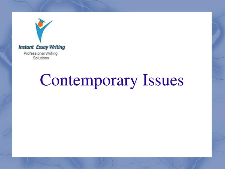 contemporary issues n.