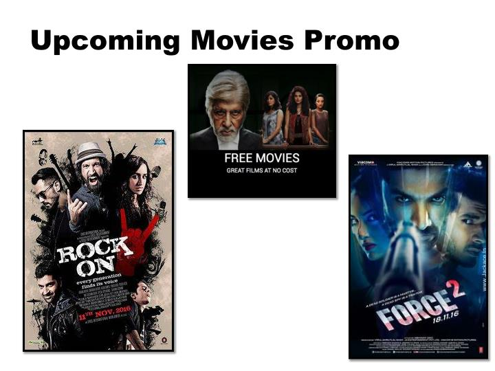 Upcoming movies promo