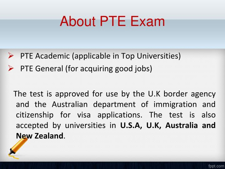 About PTE Exam