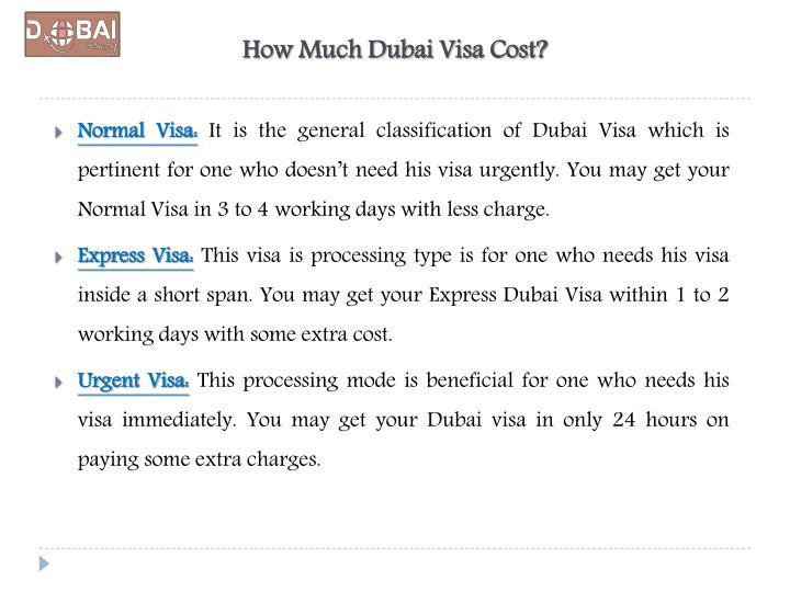 How Much Dubai Visa Cost?