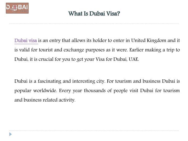 What is dubai visa