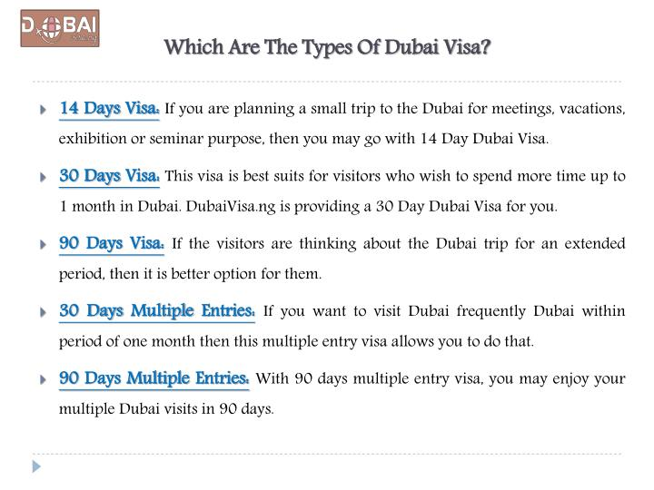 Which Are The Types Of Dubai Visa?