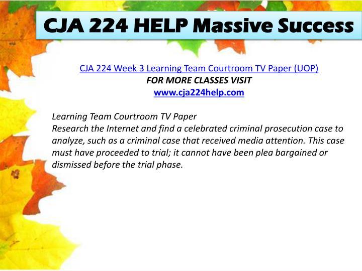 CJA 224 HELP Massive Success