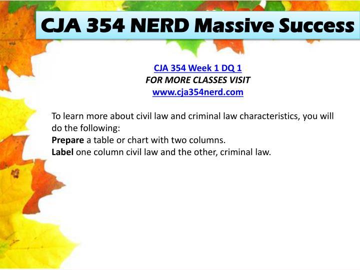 CJA 354 NERD Massive Success