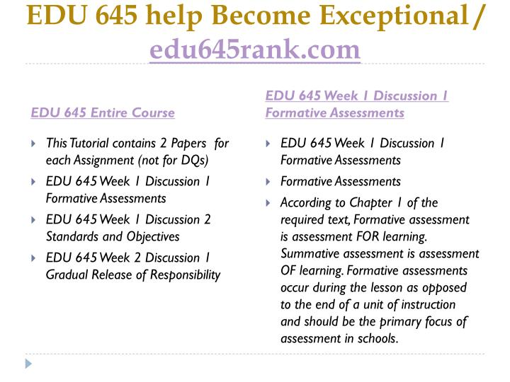 Edu 645 help become exceptional edu645rank com1