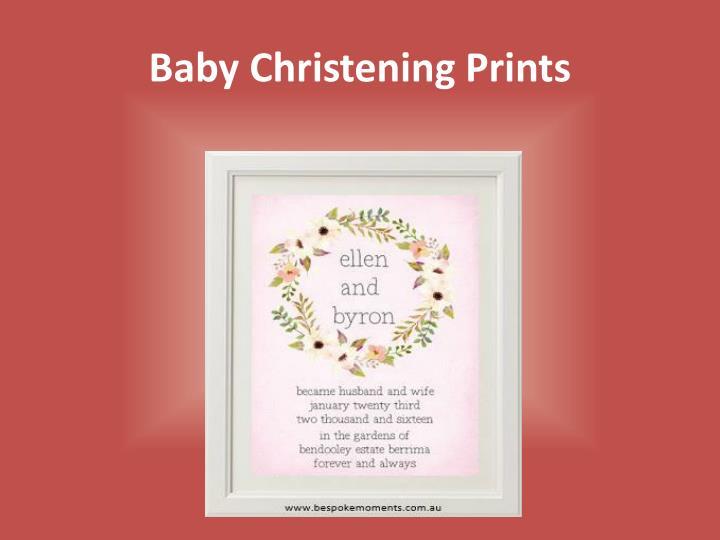 Baby christening prints
