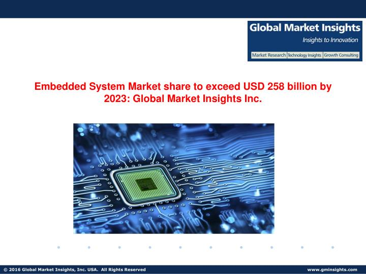Embedded System Market share to exceed USD 258 billion by 2023: Global Market Insights Inc.