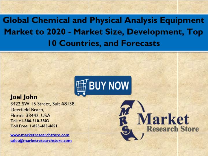 Global Chemical and Physical Analysis Equipment